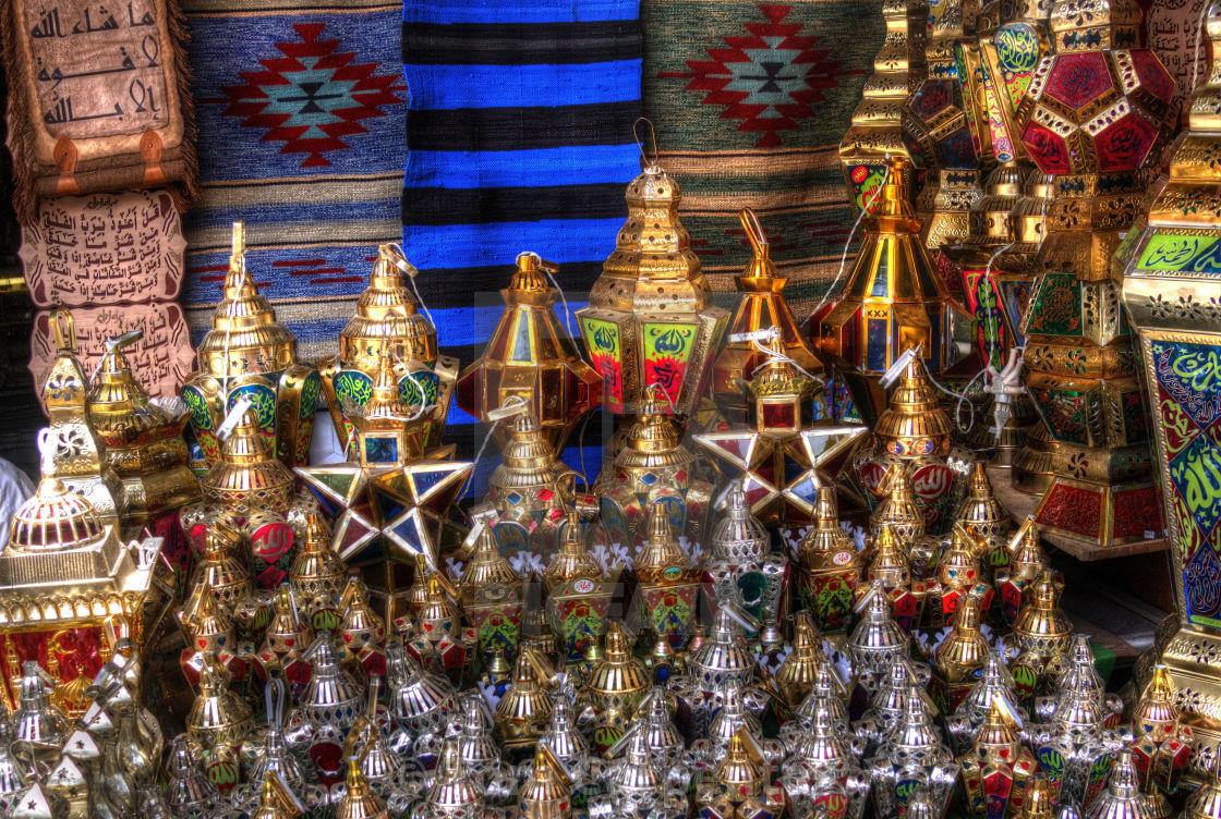 """Ramadan Lanterns in Cairo Market"" stock image"