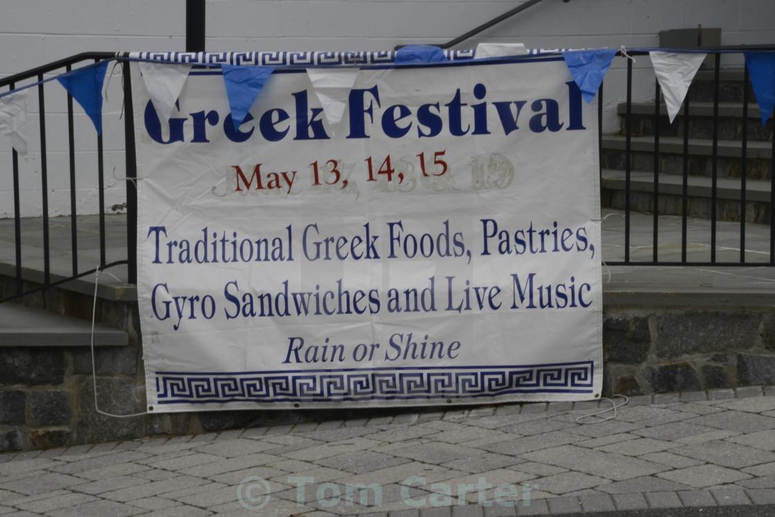 Sign for a Greek Festival - License, download or print for