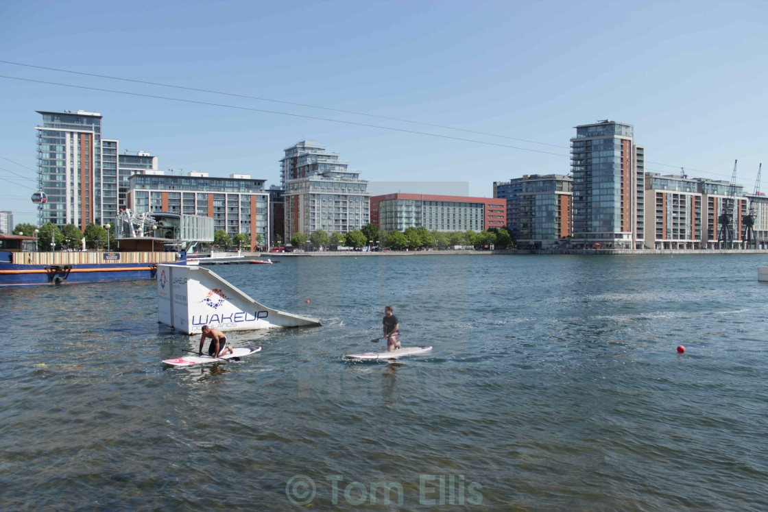 """Paddleboard - London"" stock image"
