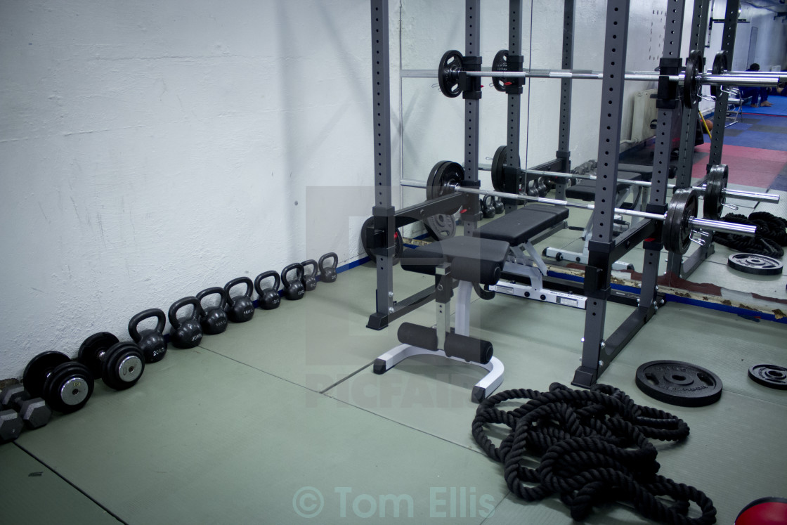 """""""Gym - Weights"""" stock image"""