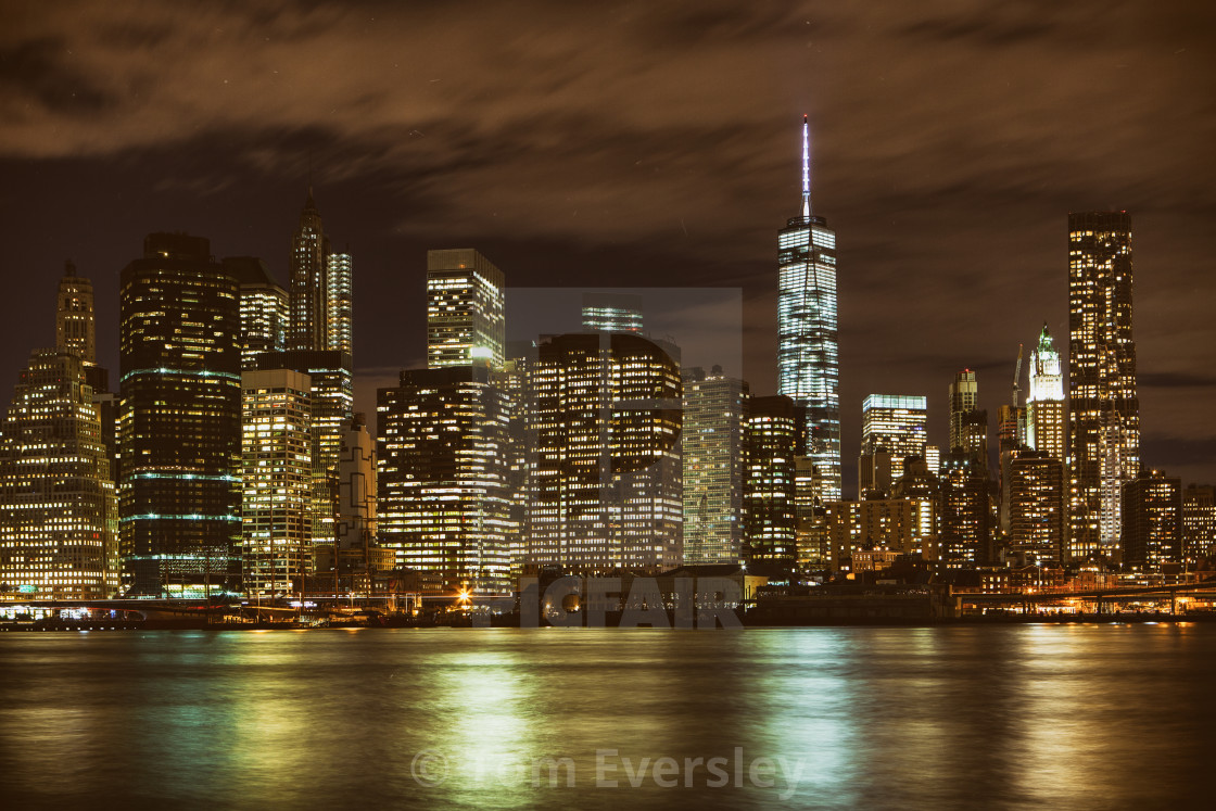 """Manhattan skyline, New York City"" stock image"