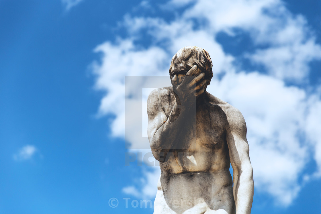 """Facepalm Statue"" stock image"