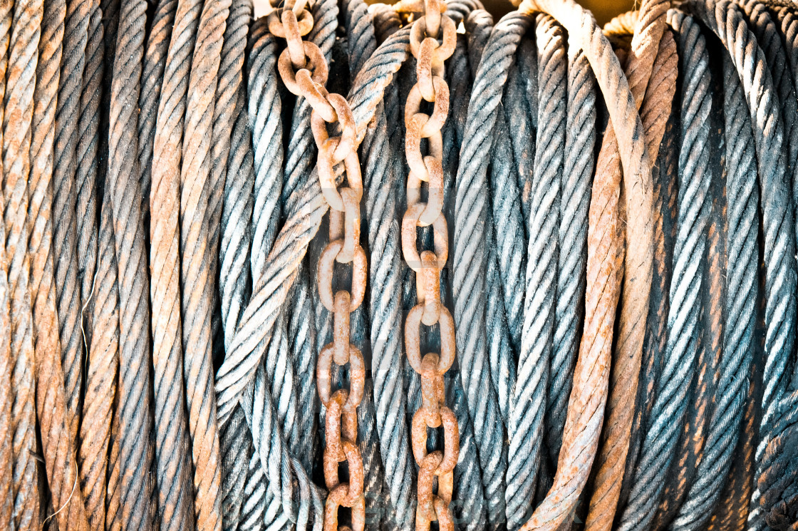 """Chains and cables"" stock image"
