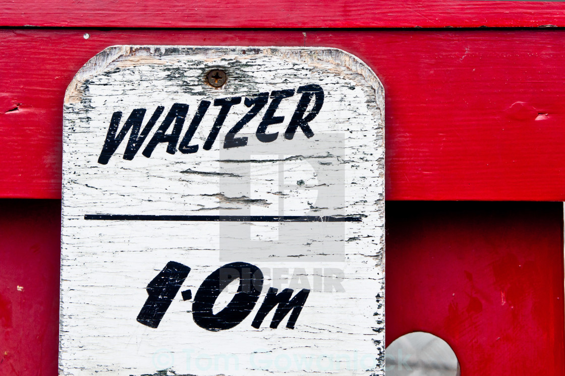 """Waltzer height limit"" stock image"
