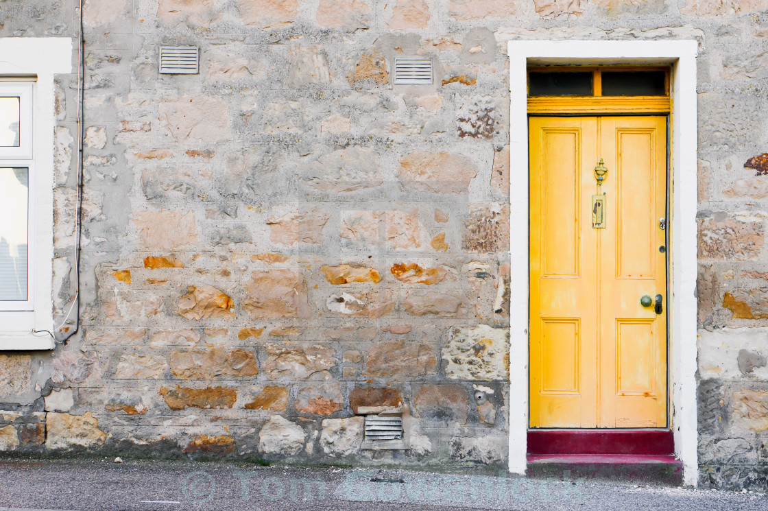 """Yellow door"" stock image"