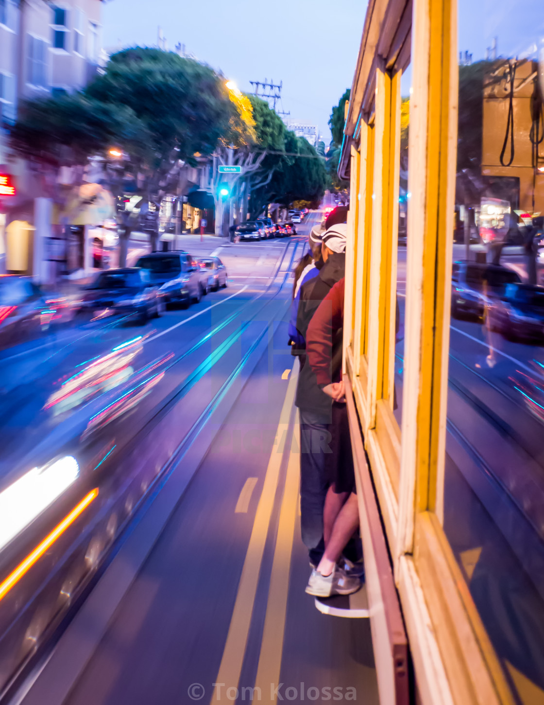"""""""Frisco Cable Car moment"""" stock image"""