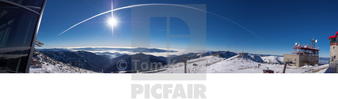 """""""Panorama with condensation trace"""" stock image"""