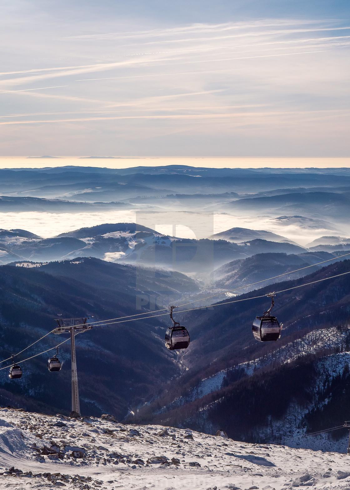 """Landscape above mountain"" stock image"