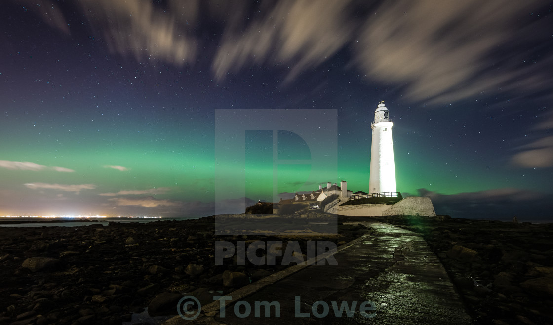 """Northern Lighthouse"" stock image"