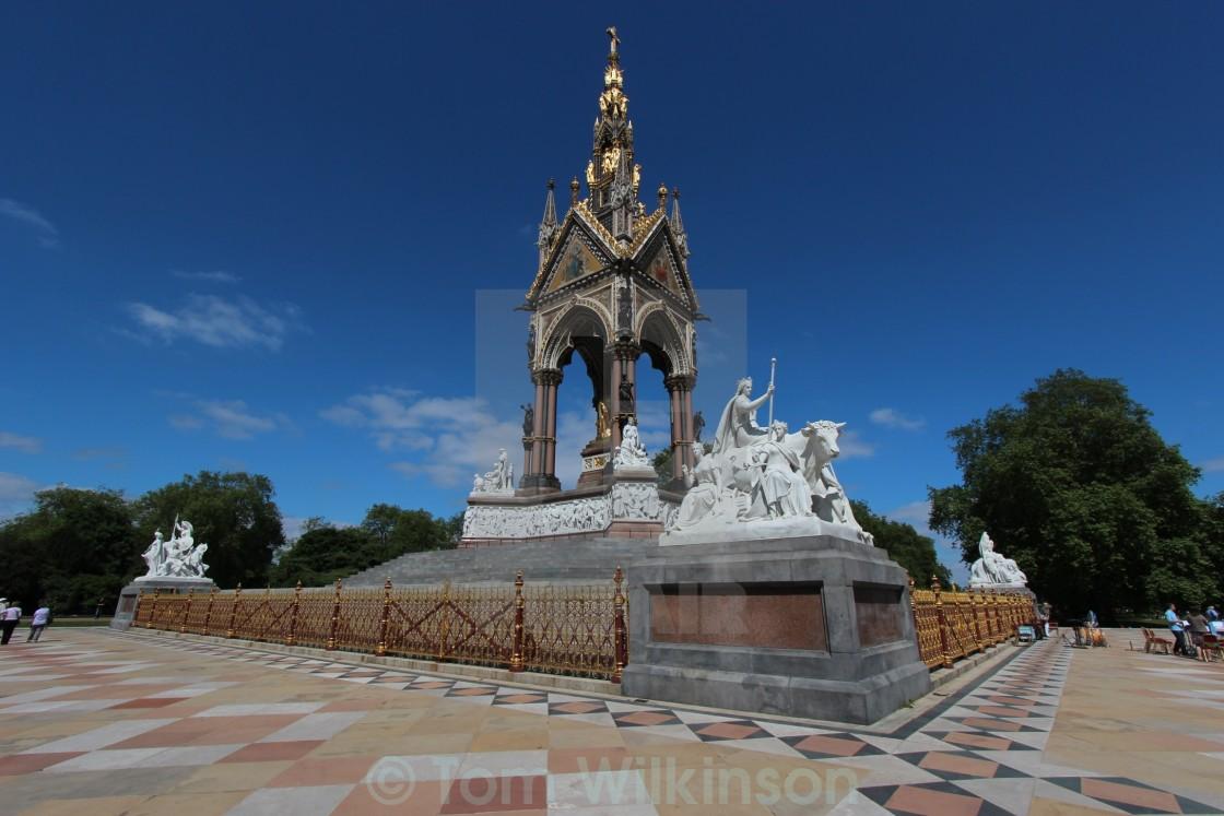 """""""Albert Memorial, Kensington Gardens, London"""" stock image"""