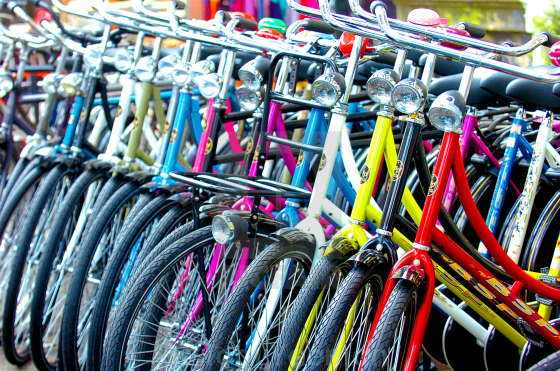 """Dam Bikes (wide)"" stock image"