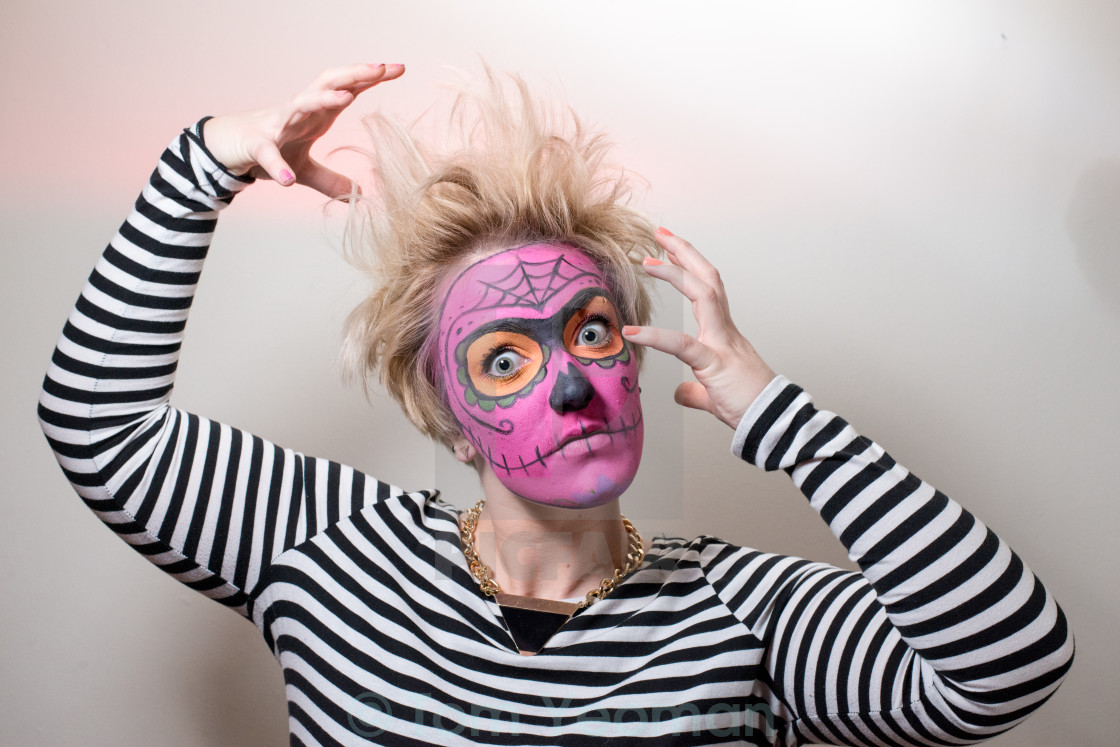 """Face paint Zombie"" stock image"
