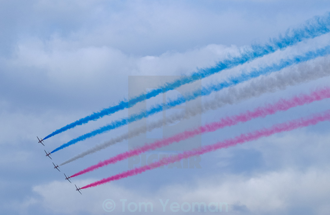 """Red Arrows at 2015 Sunderland International Airshow 7"" stock image"