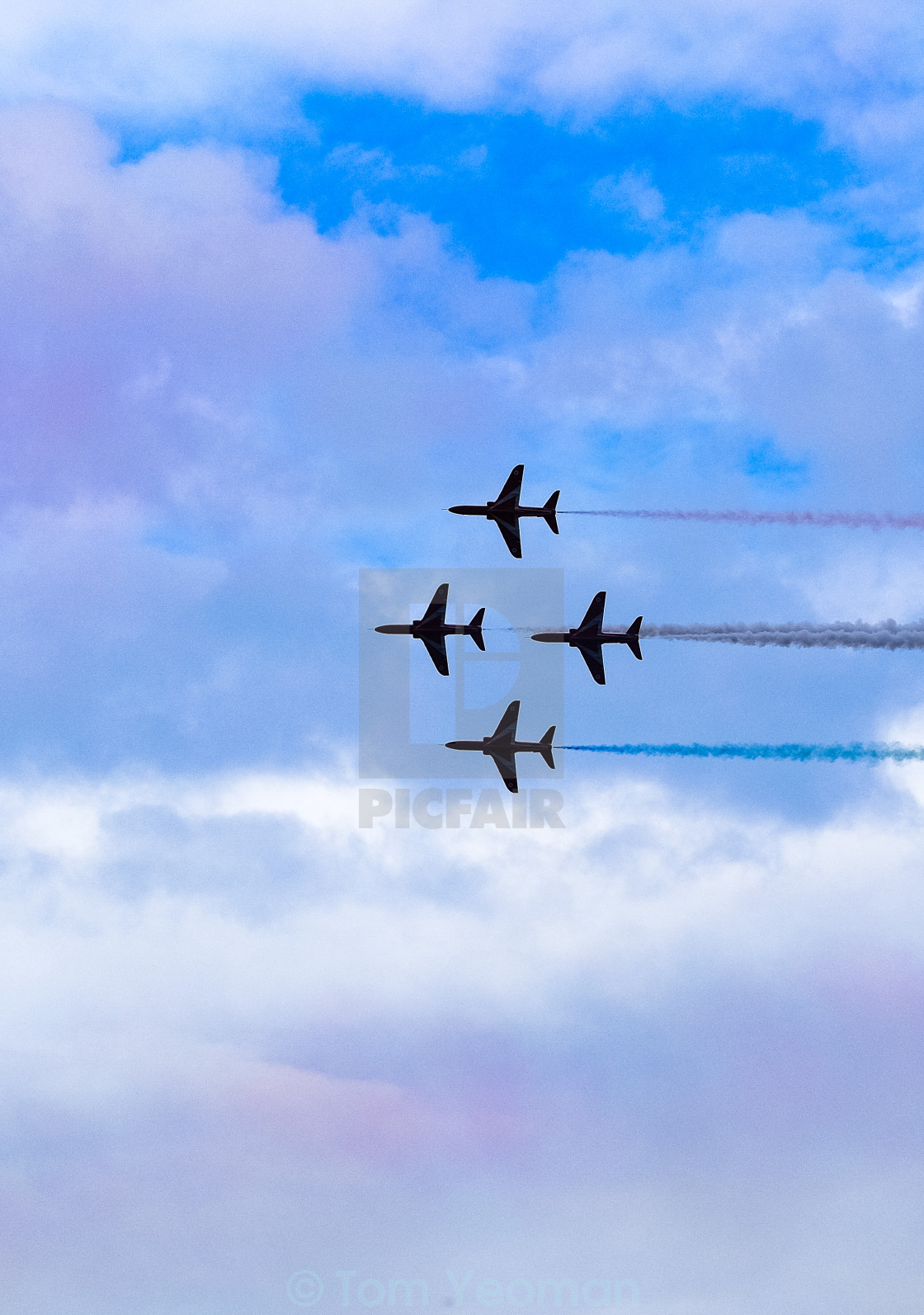 """Red Arrows at 2015 Sunderland International Airshow 11"" stock image"