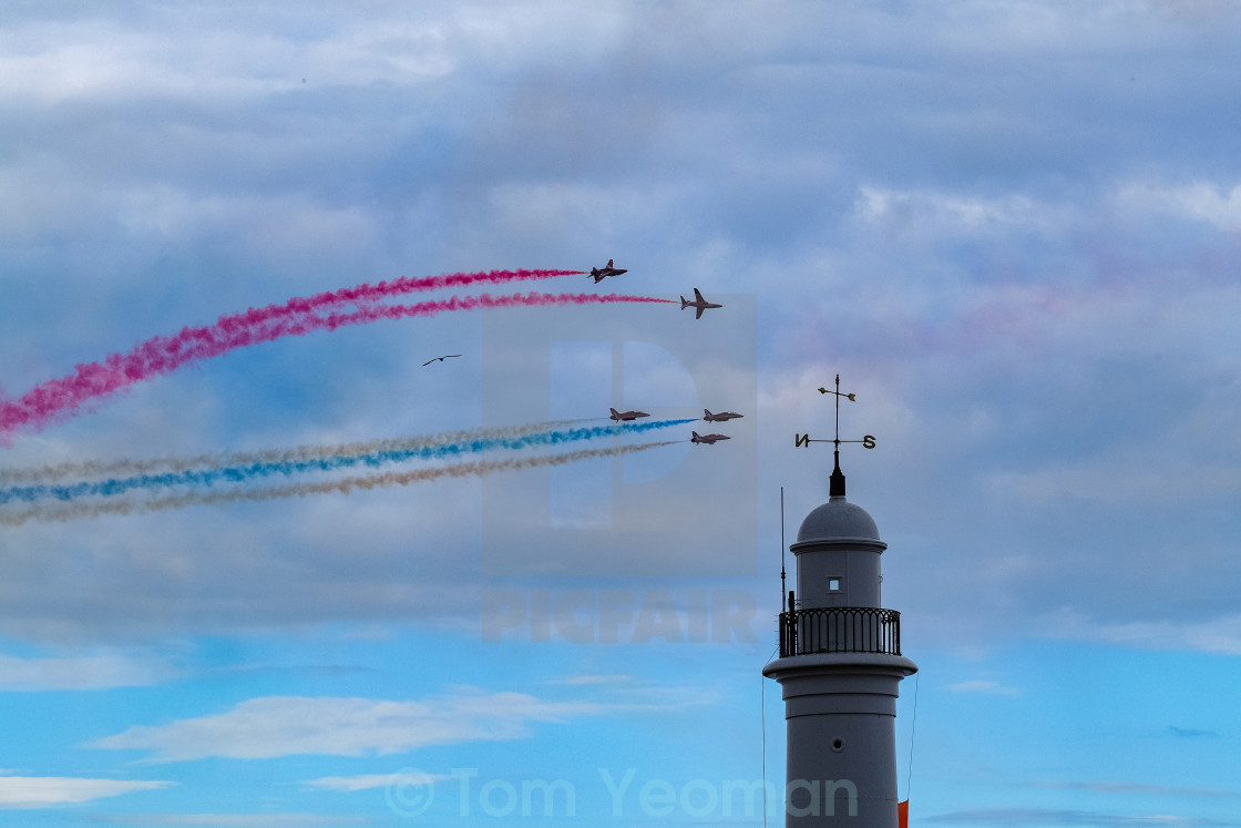 """""""Red Arrows at 2015 Sunderland International Airshow 13"""" stock image"""
