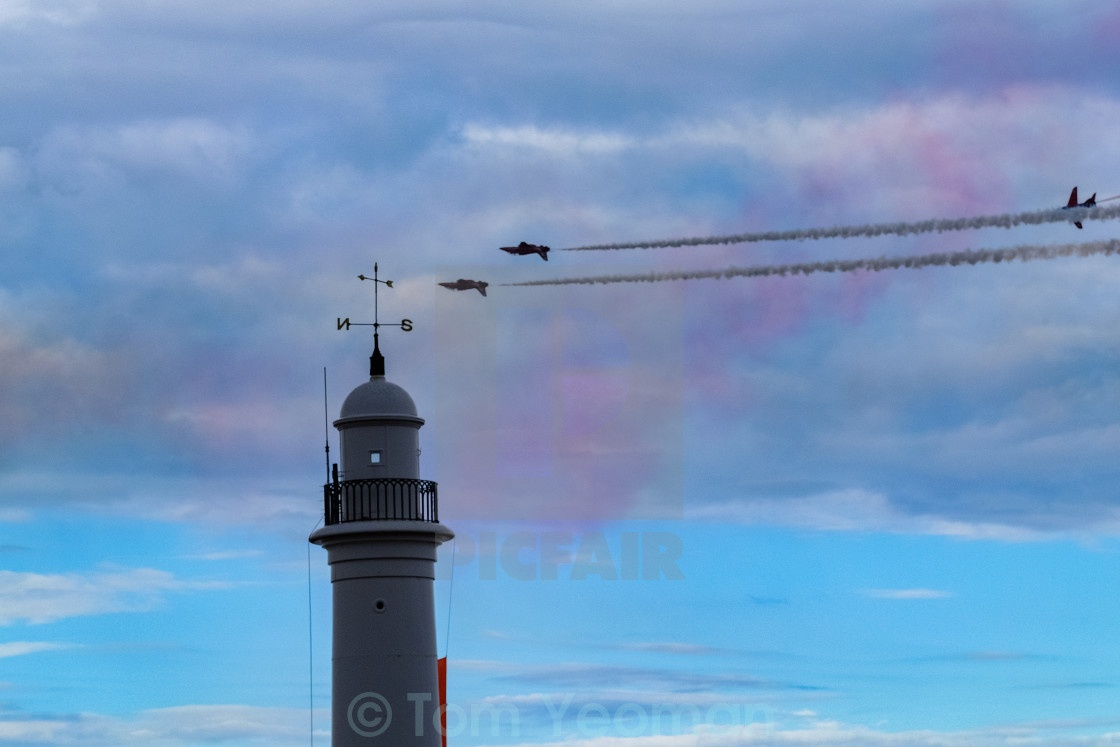 """""""Red Arrows at 2015 Sunderland International Airshow 14"""" stock image"""