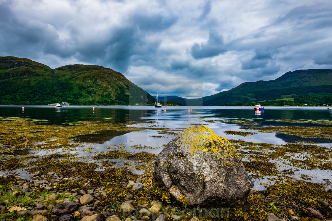 """""""Rock on the Loch"""" stock image"""