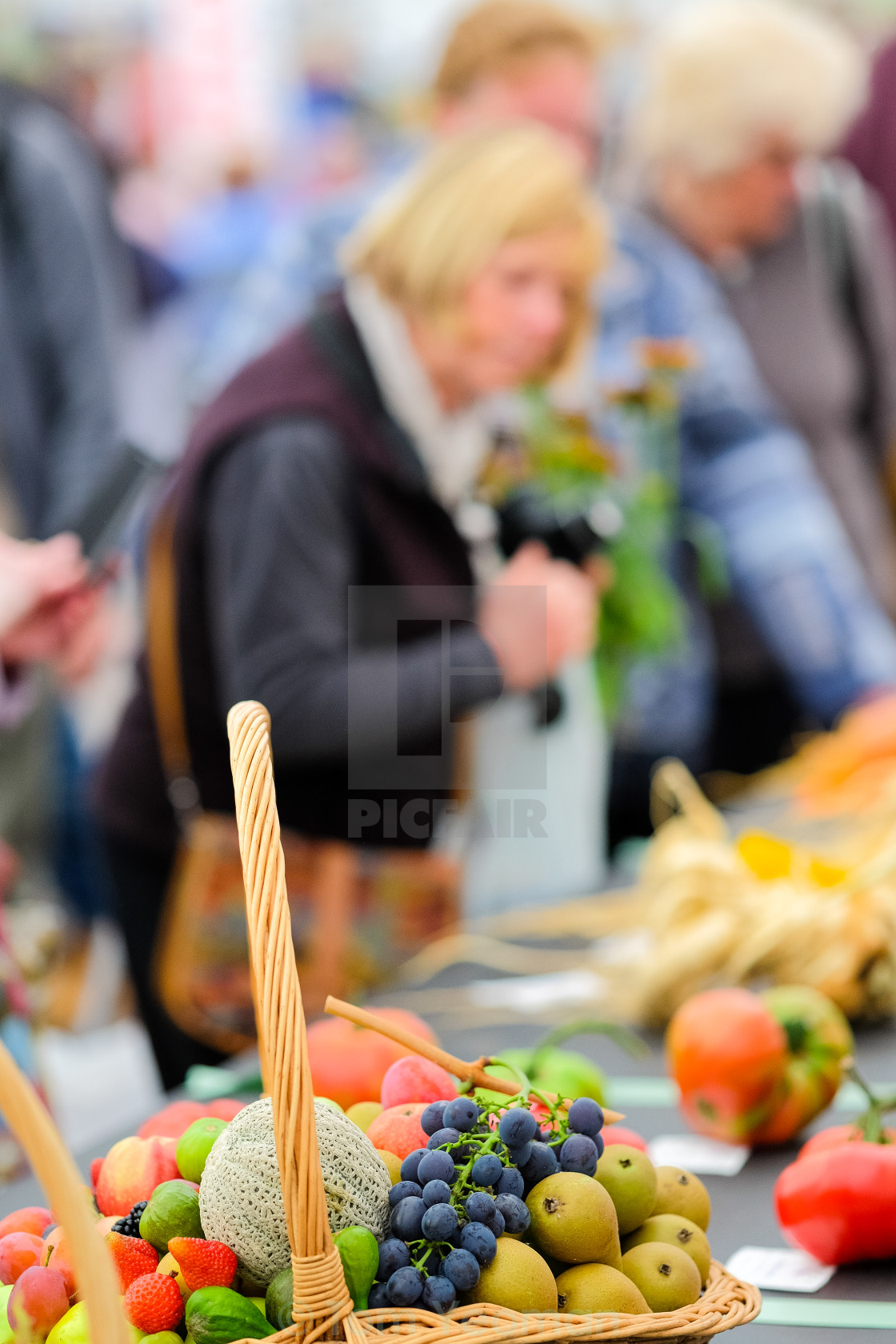 """Fruit basket at show"" stock image"