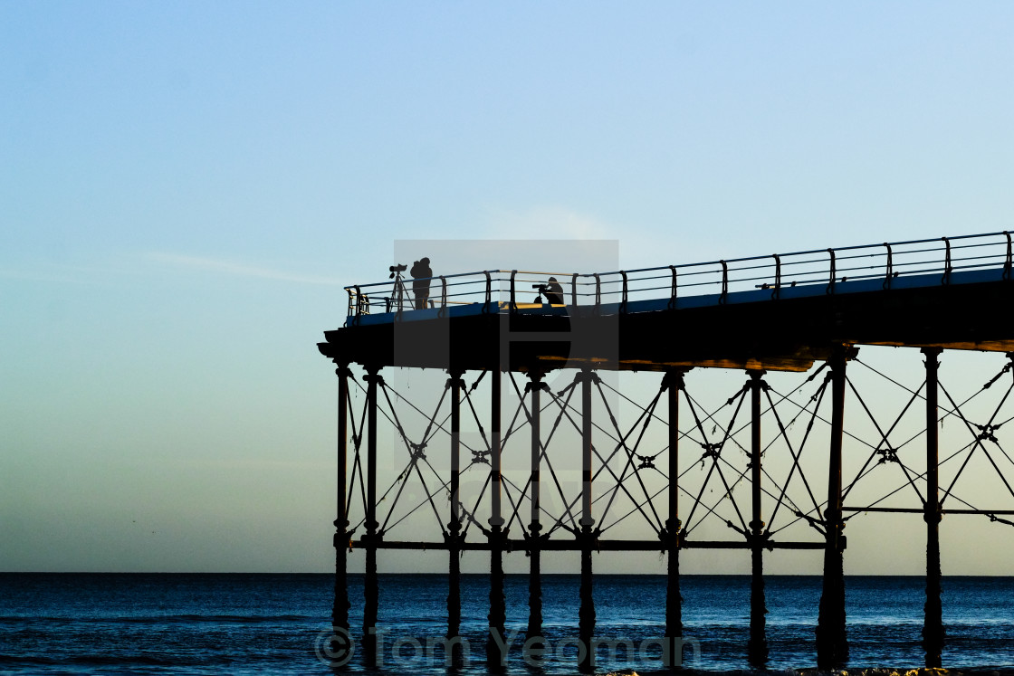 """End of the pier photographers"" stock image"