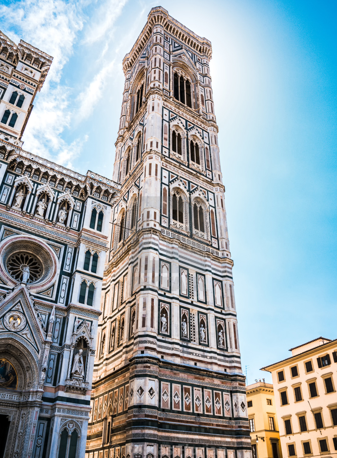 """Famous tower in Florence Campanile di Giotto"" stock image"
