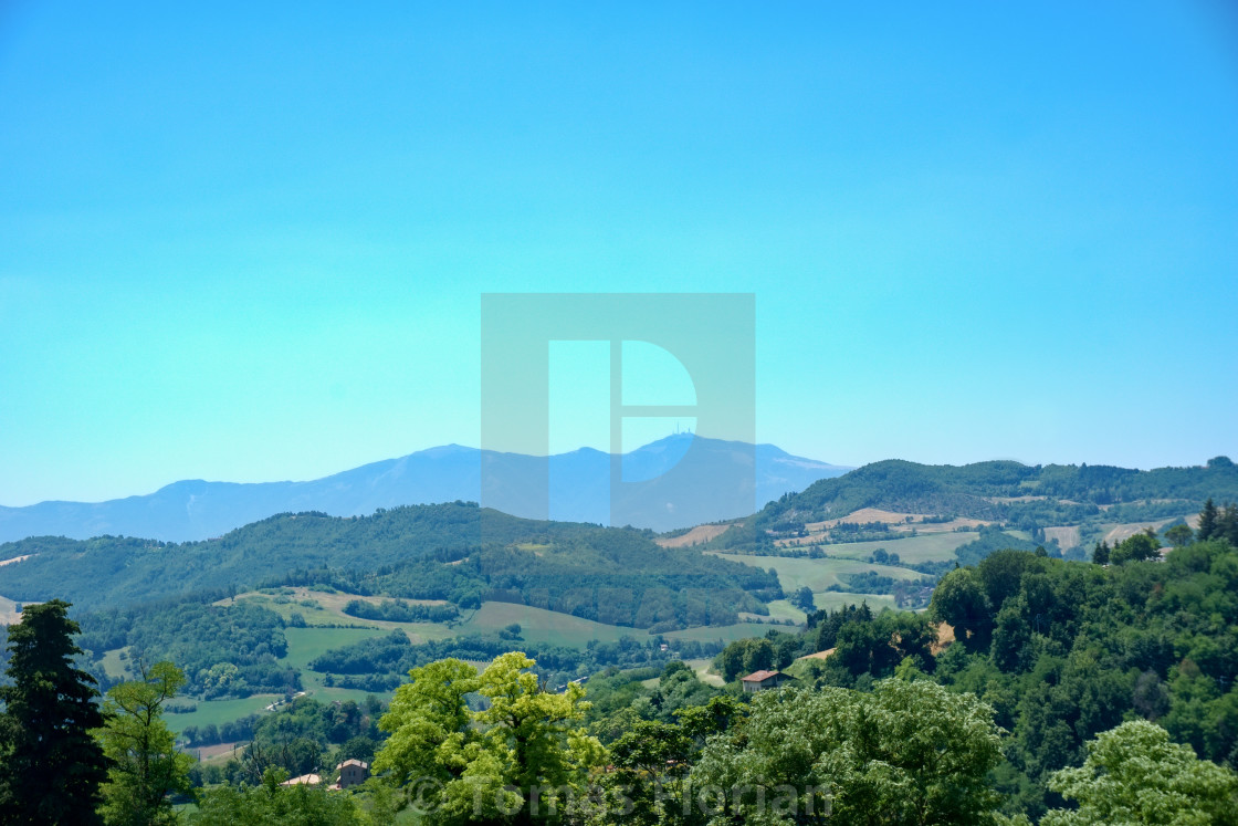 """Nice countryside view from Urbino town to the country"" stock image"