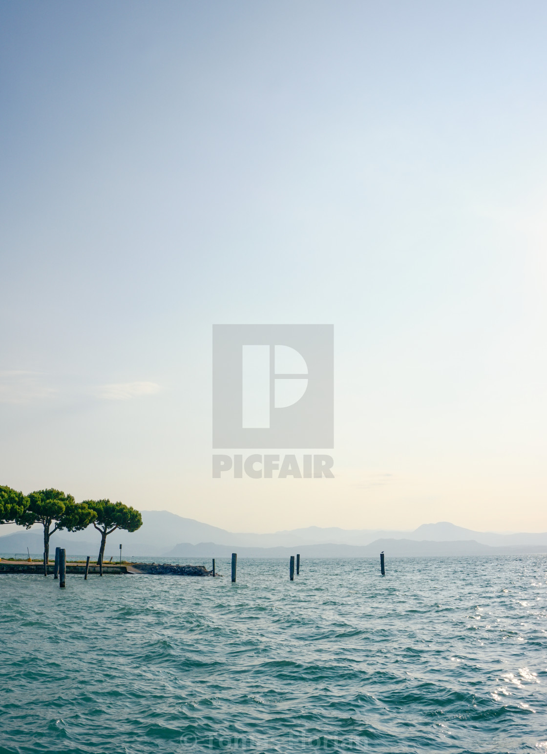 """View on Lago di Garda in the morning"" stock image"