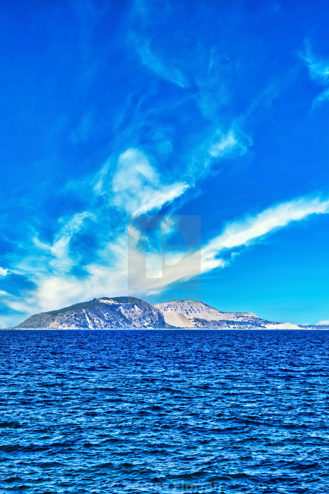 """Small island in Aegean Sea between Kos and Nisyros"" stock image"