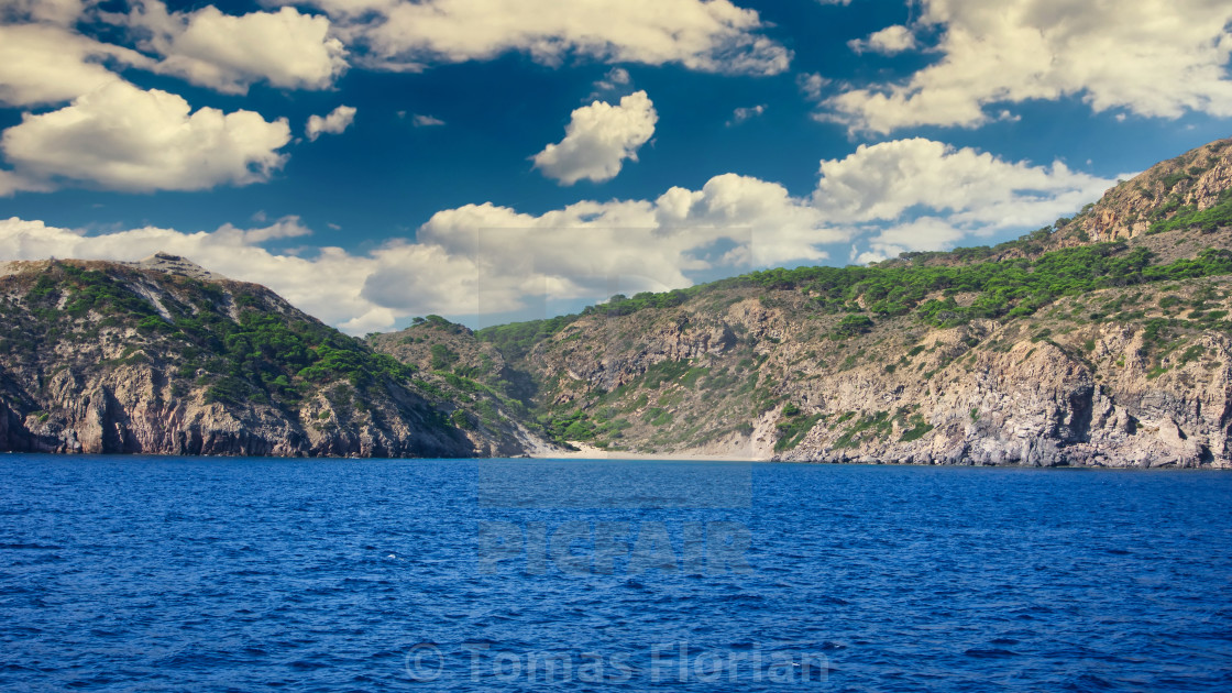 """Small beach on island between Kos and Nisyros"" stock image"