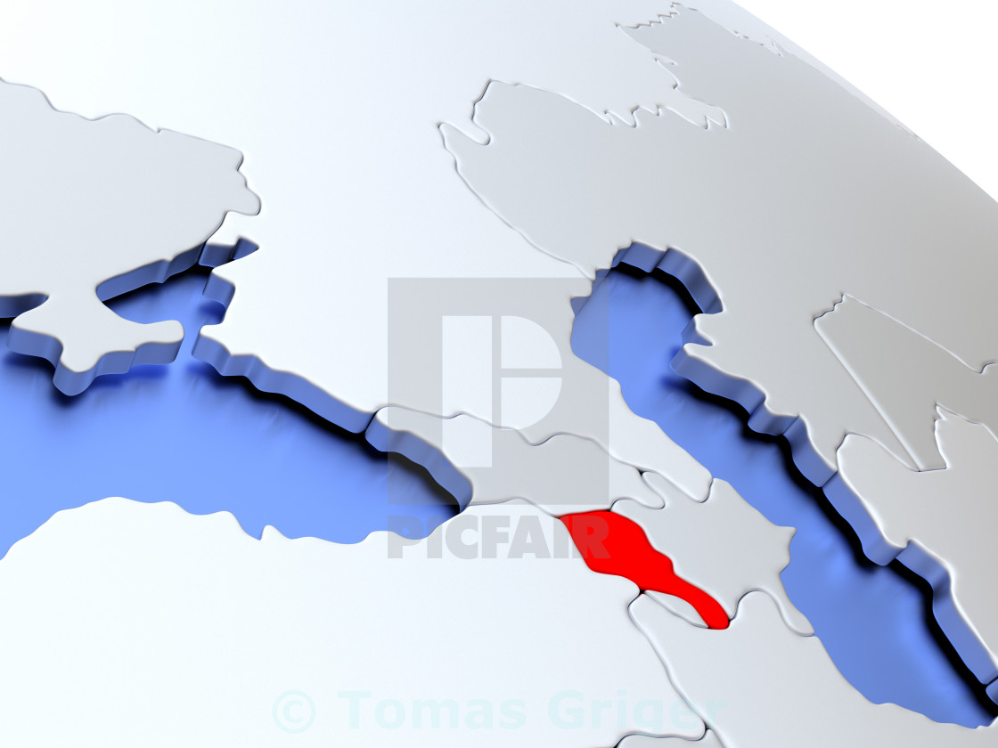 Picture of: Armenia On World Map License Download Or Print For 1 24 Photos Picfair