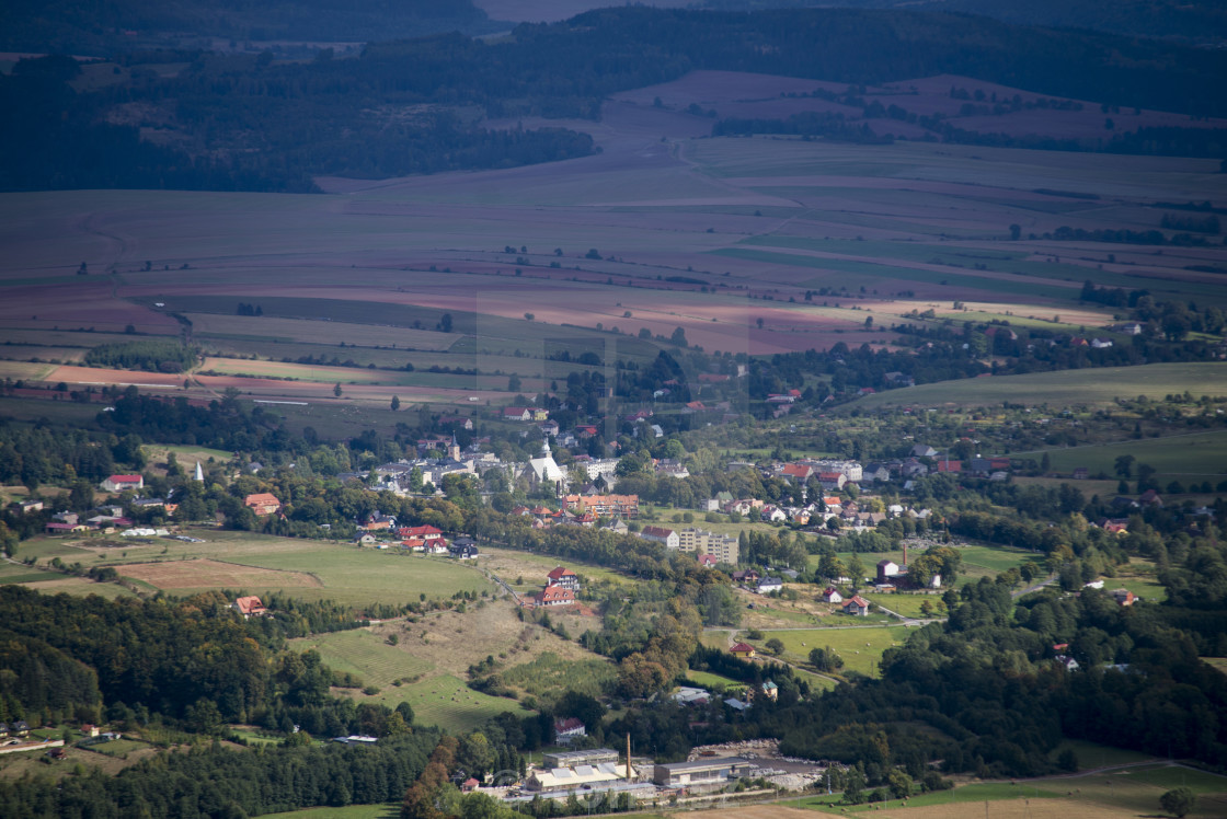 """""""village viwe from the top"""" stock image"""