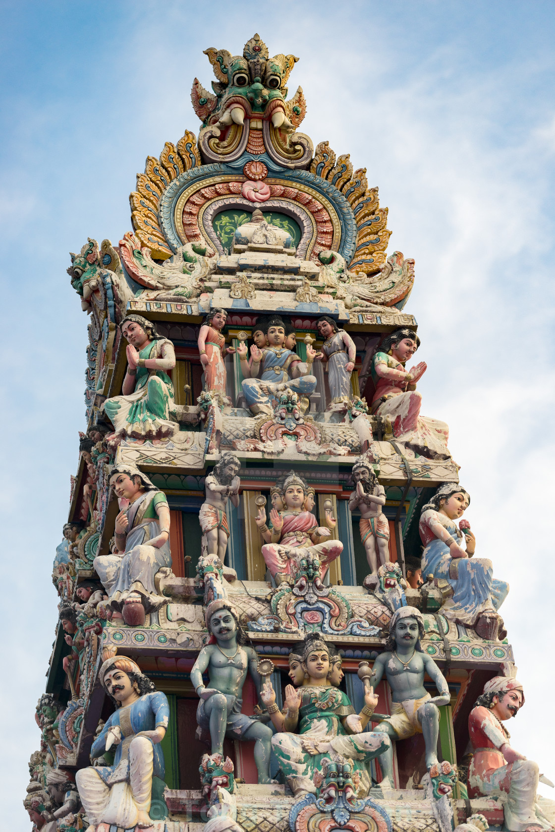 """""""Hinduism statue of Sri Mariamman temple in Singapore"""" stock image"""