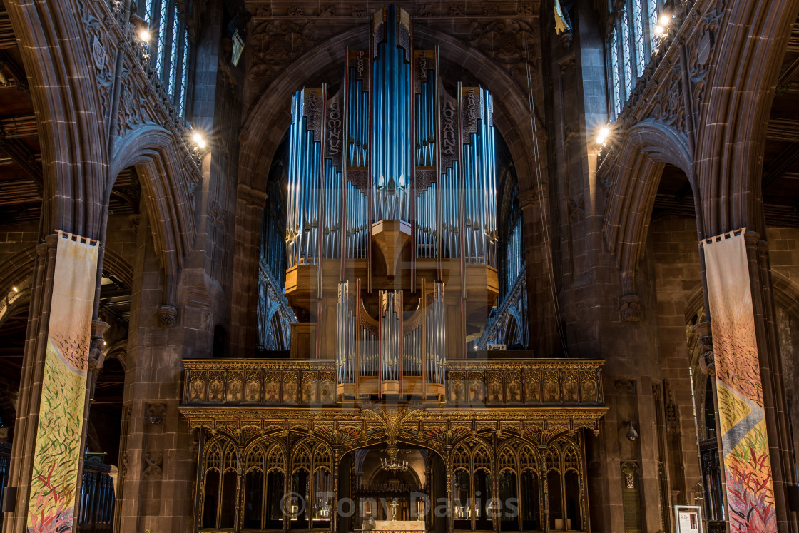 """Manchester Cathedral - New Organ 2017"" stock image"