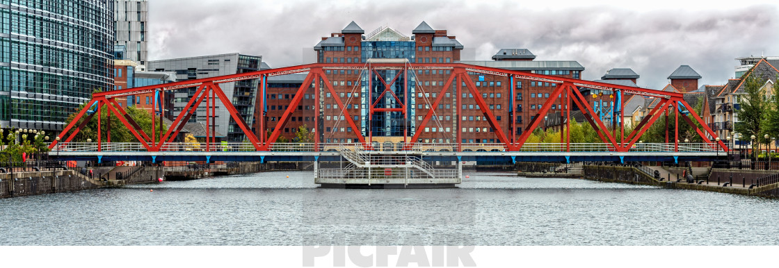 """Swing Bridge"" stock image"
