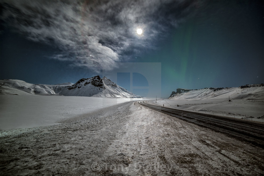 """Mountain Pass Iceland"" stock image"