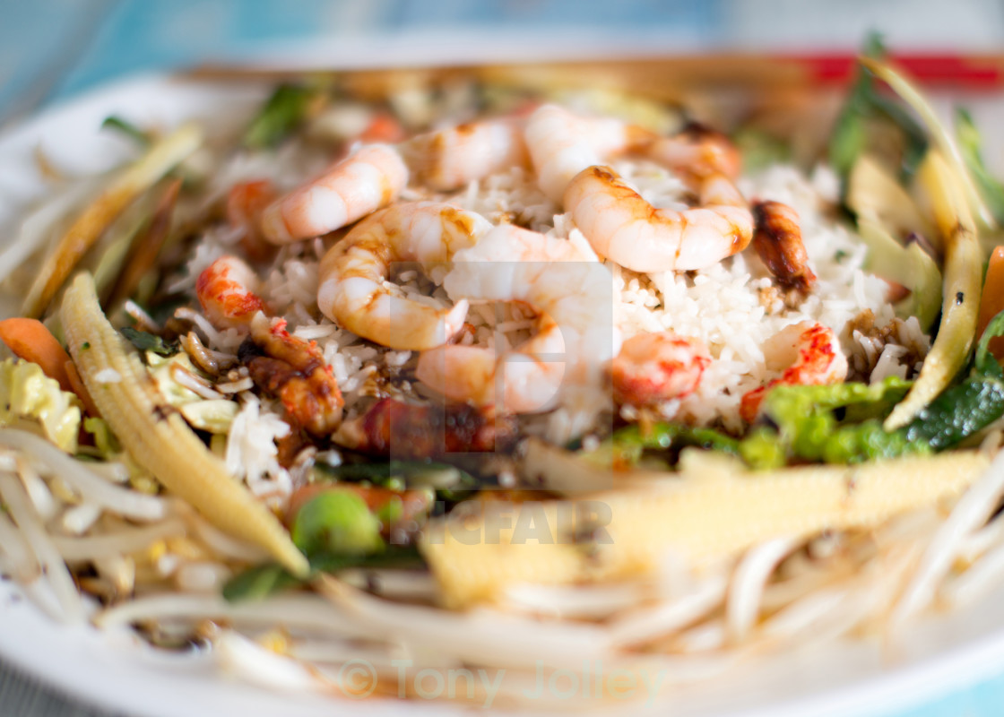 """King Prawn Stir Fry"" stock image"