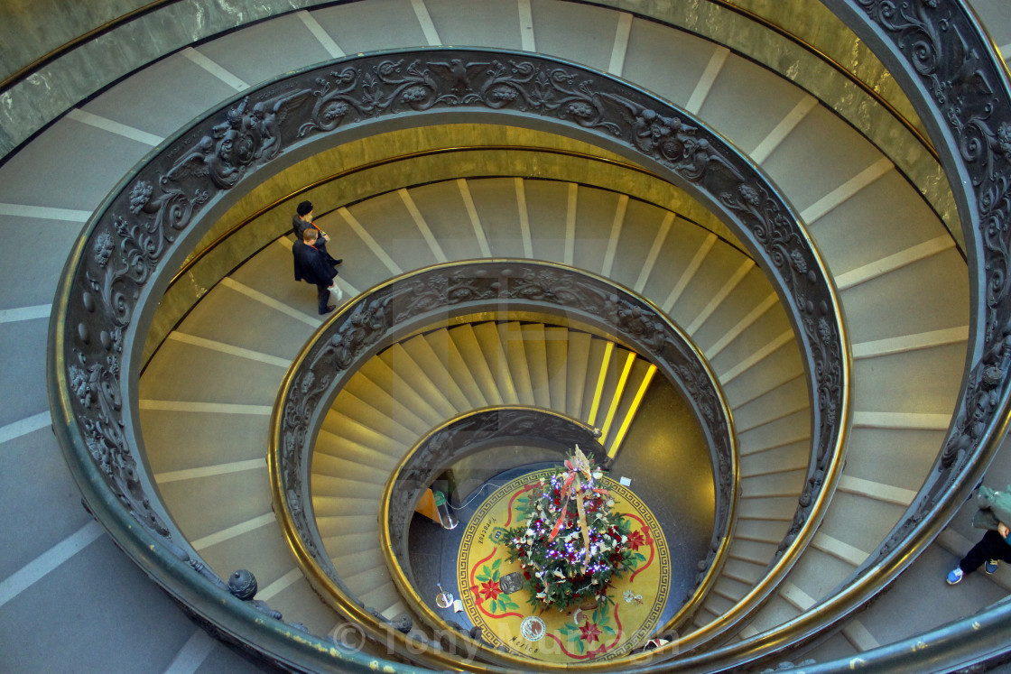 """""""Spiral Staircase in Vatican Museum"""" stock image"""