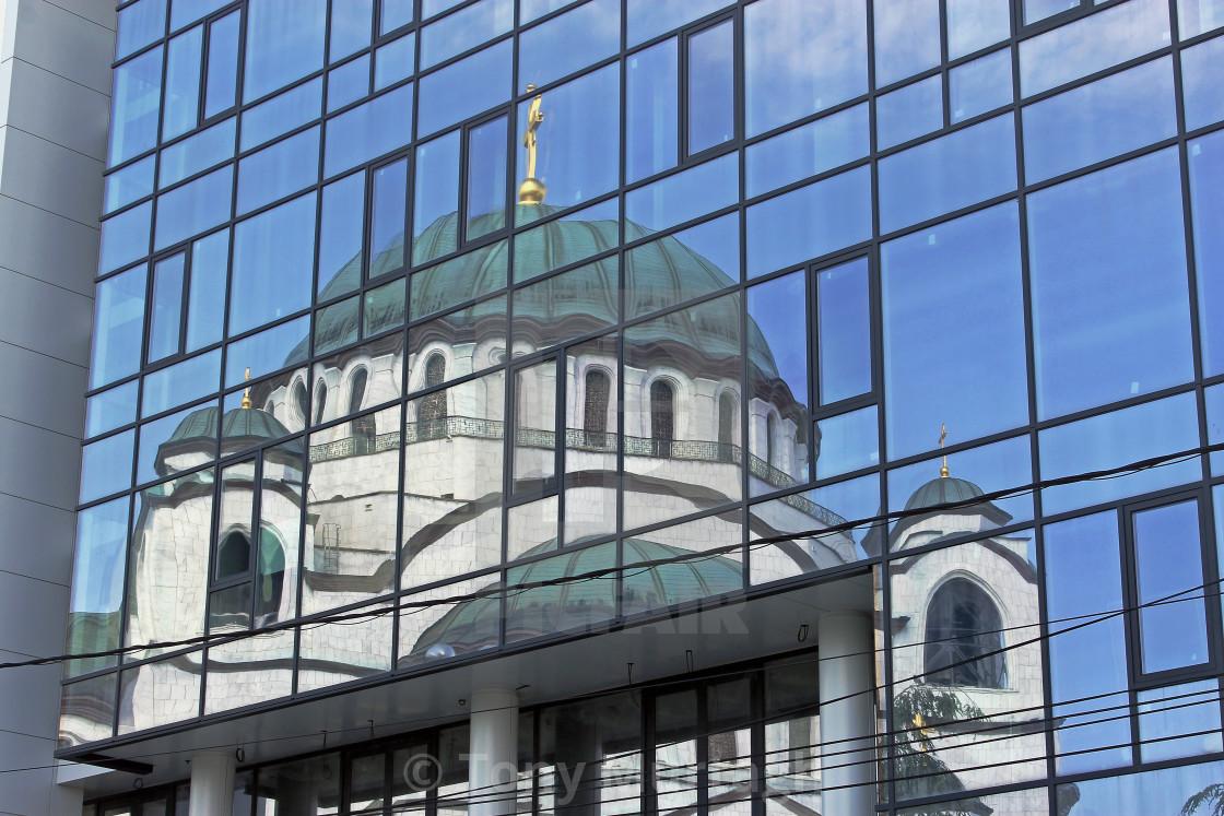 """Cathedral of Saint Sava"" stock image"