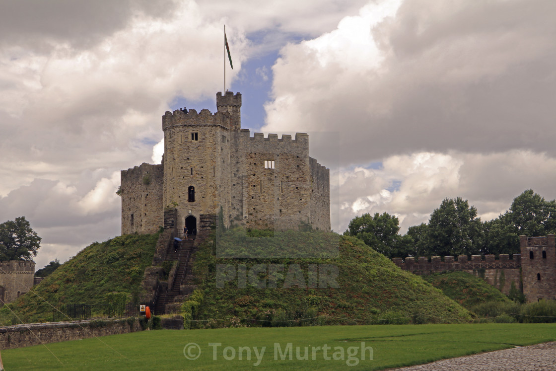"""Cardiff Castle Keep"" stock image"