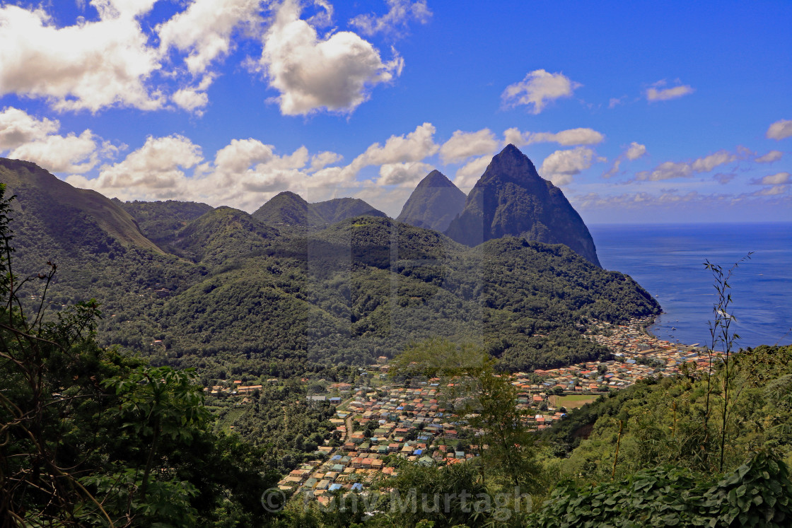 """""""The Pitons"""" stock image"""