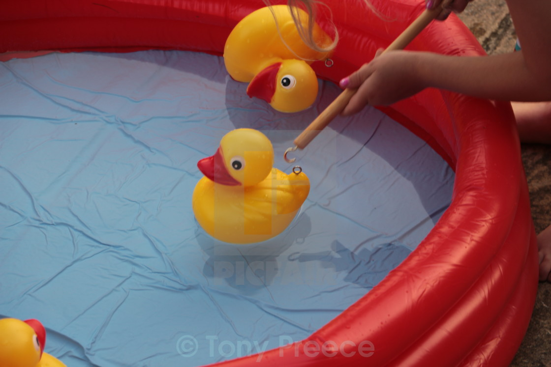 """""""Hook-a-duck"""" stock image"""