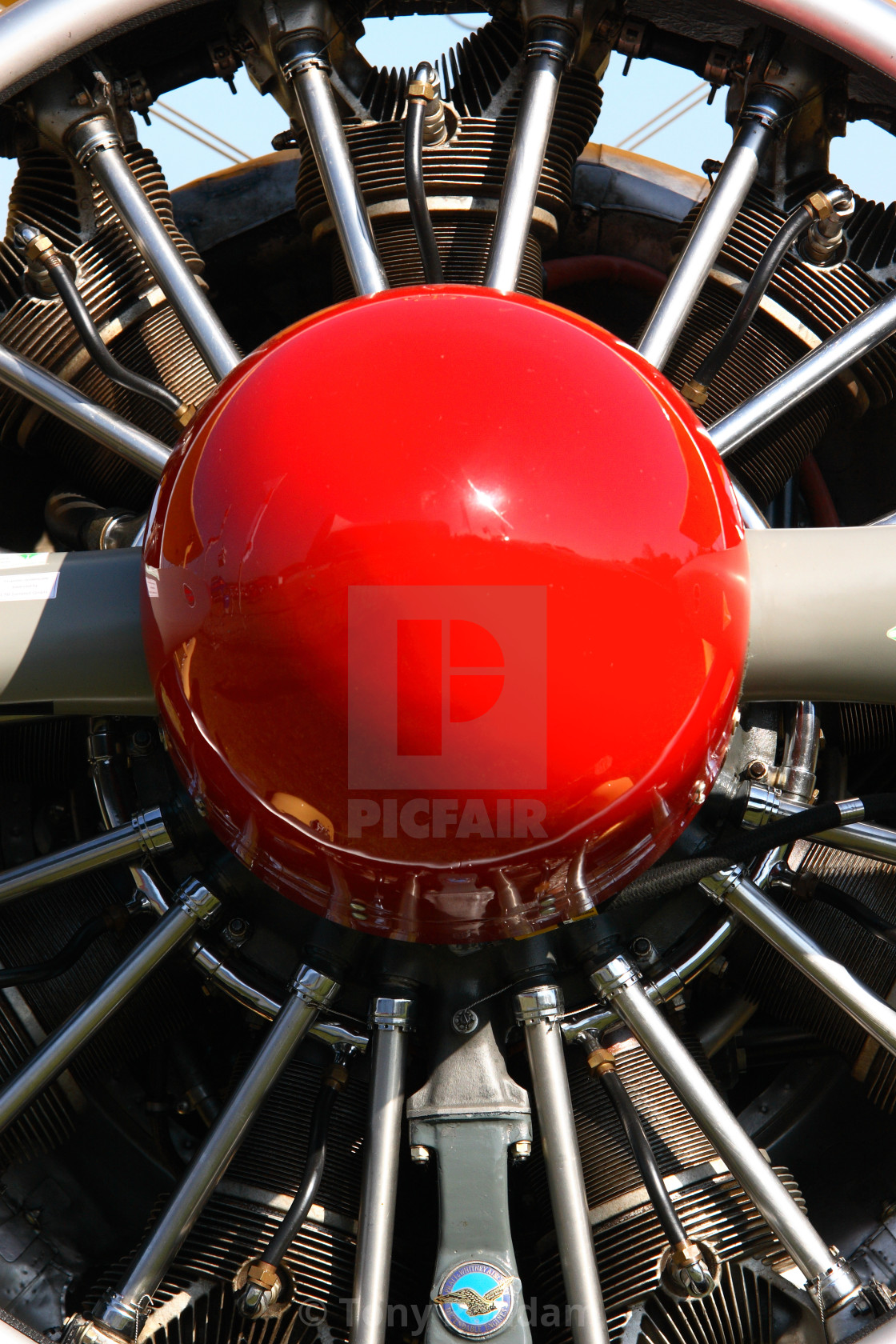 A close up of a radial engine at the Aero Friedrichshafen