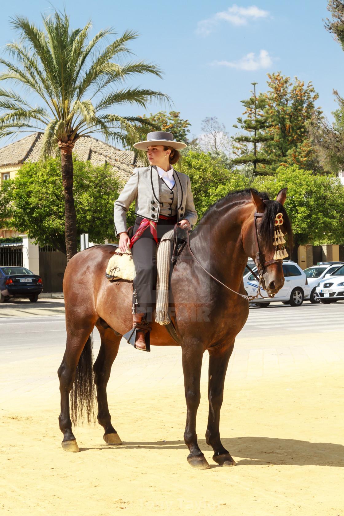 """""""Rider Standing Still"""" stock image"""