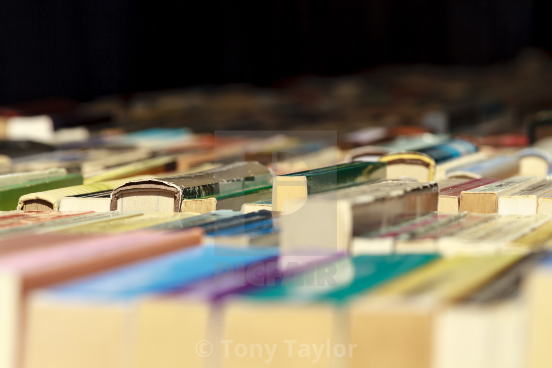"""""""Old books for sale"""" stock image"""