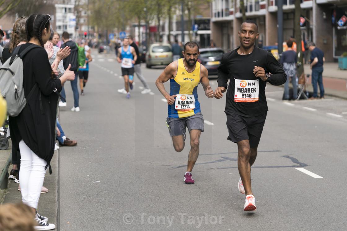 """Tough Marathon run"" stock image"