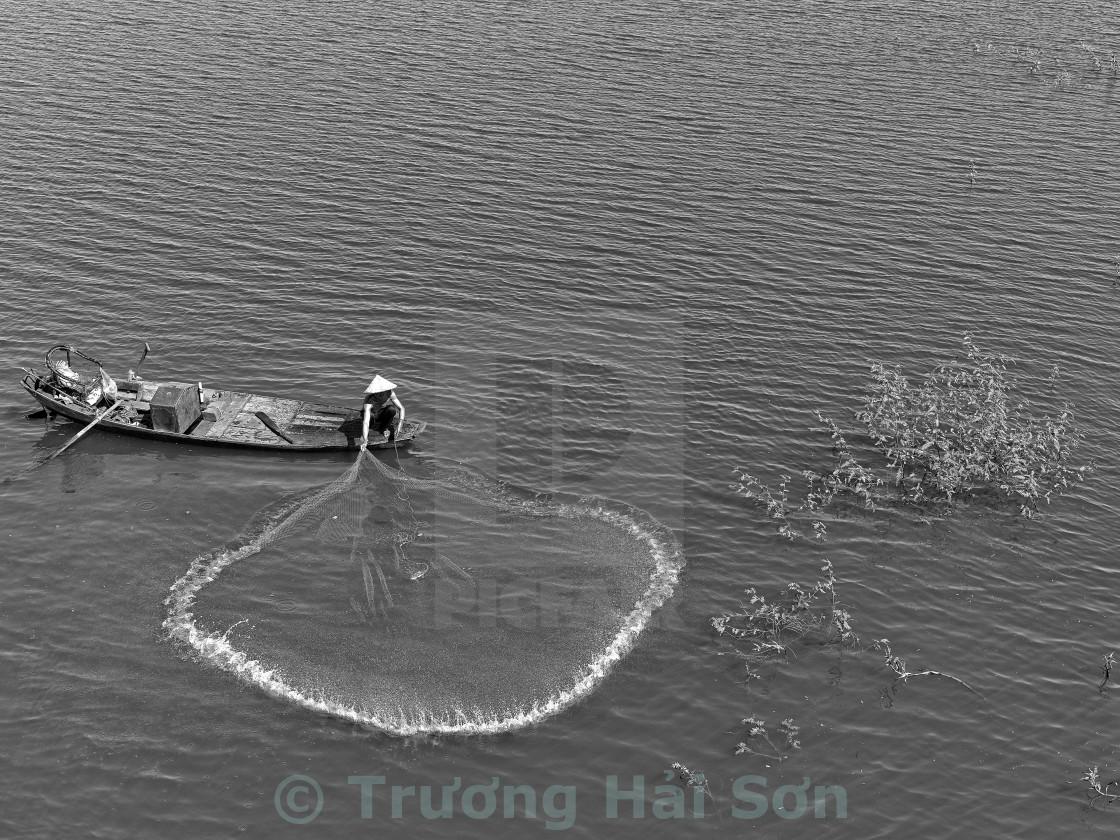 """Throw a net on lake"" stock image"