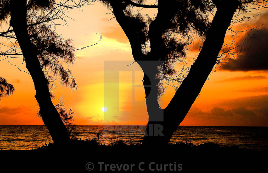 """Maui Sunset"" stock image"