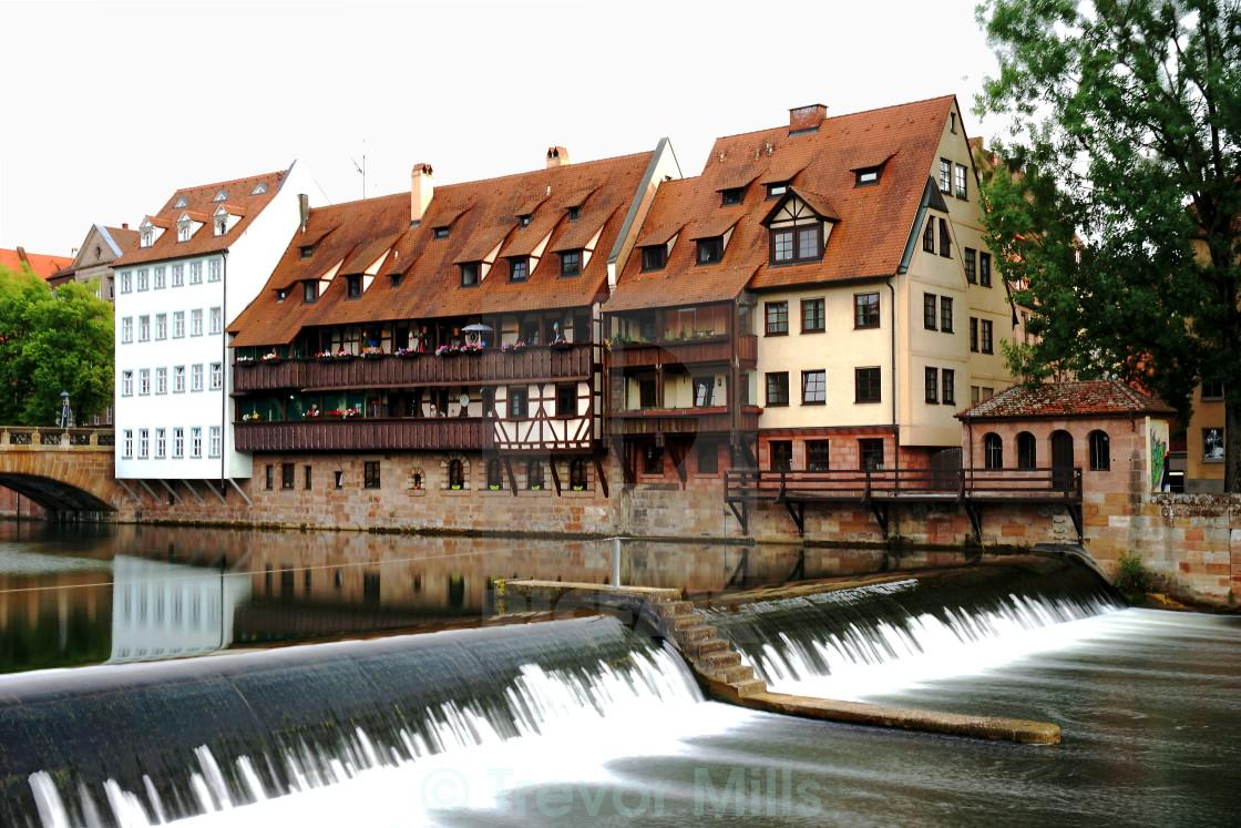 """Pegnitz river, Nurembeug"" stock image"