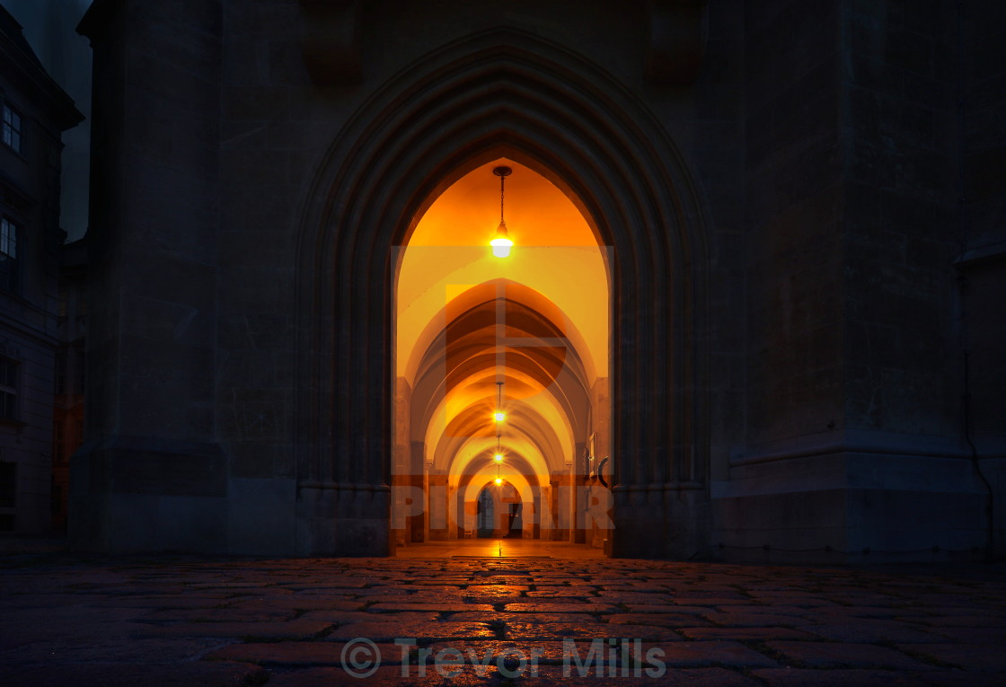 """Orange Archway"" stock image"