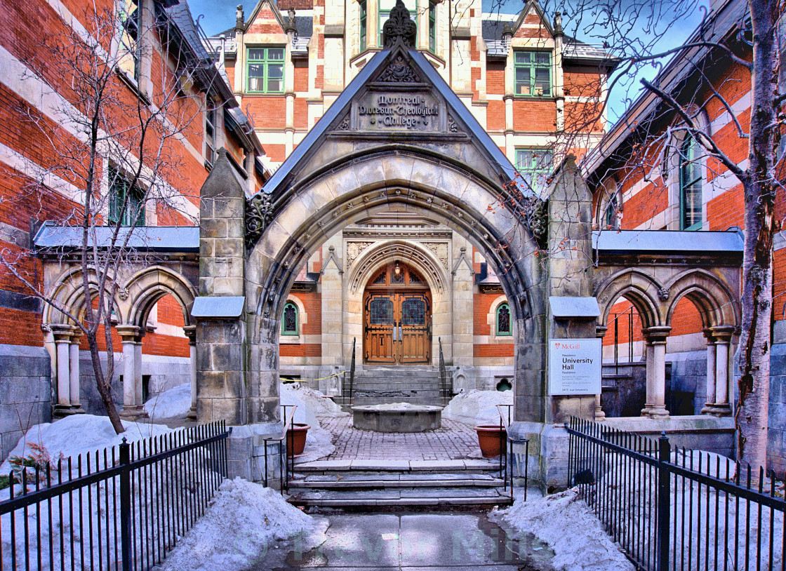 """McGill University"" stock image"