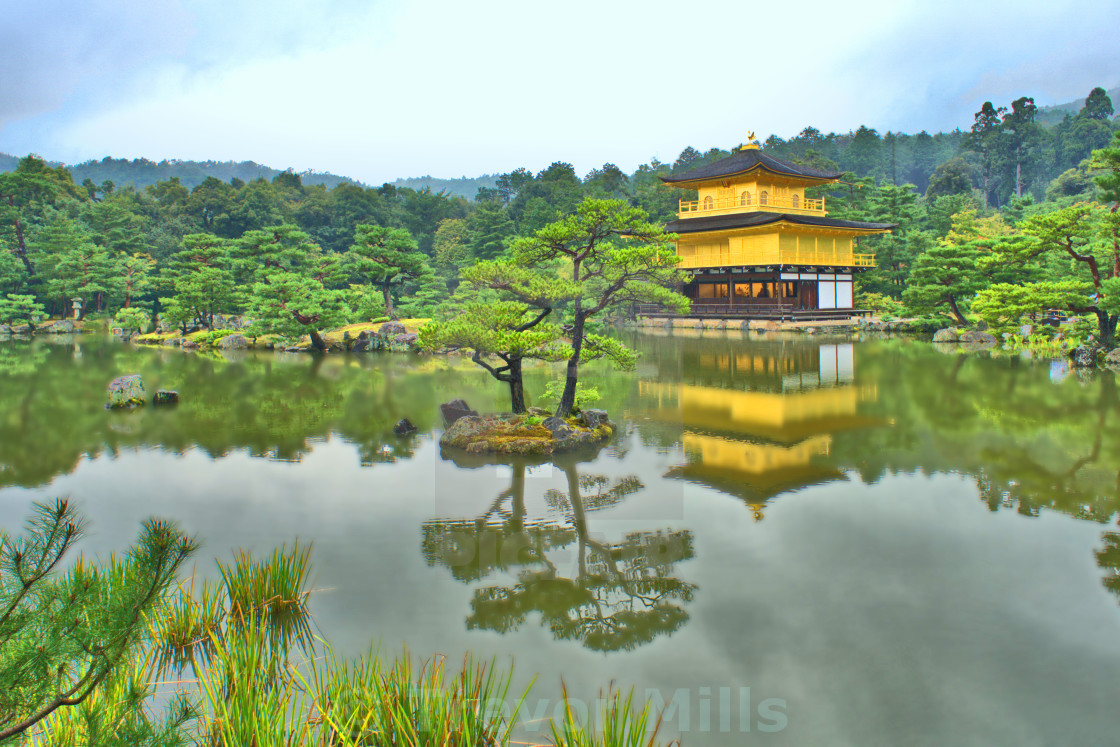 """""""Golden temple, Kyoto"""" stock image"""